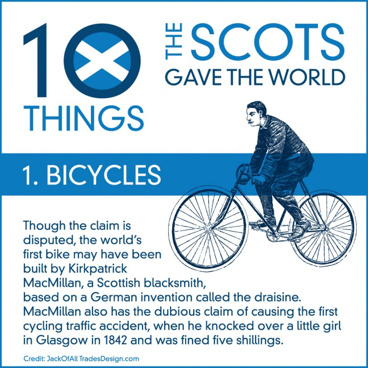 10 Things The Scots Gave the World… #1: Bicycles!