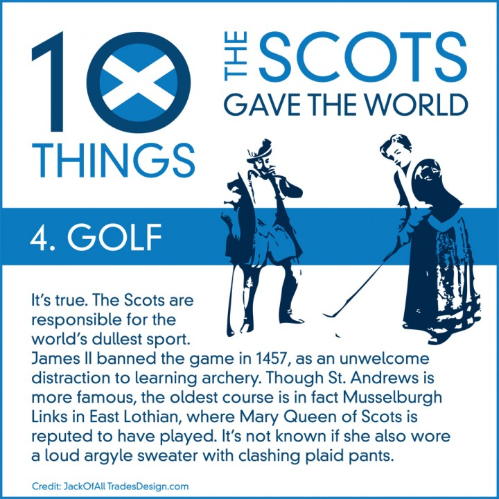 10 Things the Scots Gave the World #4: Golf!