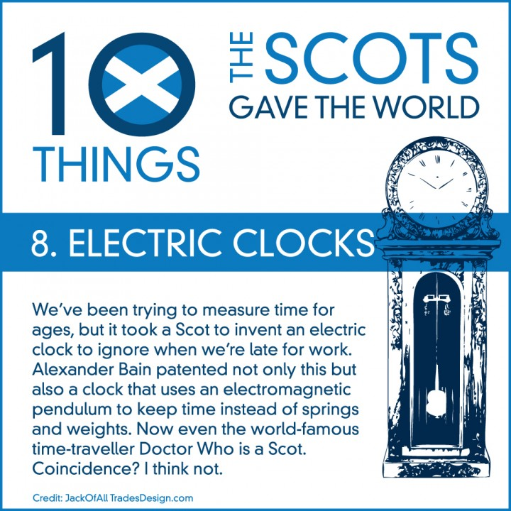 10 Things the Scots Gave the World #8: Electric Clocks